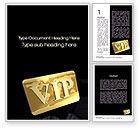 Careers/Industry: VIP Card Word Template #10584