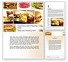 Food & Beverage: Fast Food Set Word Template #10590