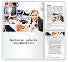 People: Work for a Company Word Template #10594