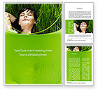 People: Peacefulness Word Template #10598