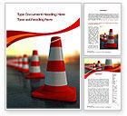 Careers/Industry: Traffic Pylons Word Template #10610