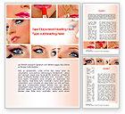 Careers/Industry: Makeup Word Template #10614