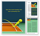 Technology, Science & Computers: Tennis Ball Trajectory Word Template #10616