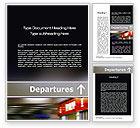 Cars/Transportation: Departures Word Template #10619