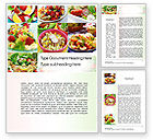 Food & Beverage: Salads Word Template #10625