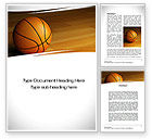 Sports: Basketball on Floor Word Template #10638