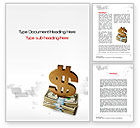 Financial/Accounting: Dollar Pedestal Word Template #10639