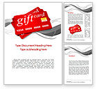 Careers/Industry: Gift Card Word Template #10641
