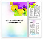 Business Concepts: Colored Puzzle Pieces Word Template #10647