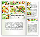Food & Beverage: Salad Recipes Word Template #10648