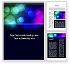 Abstract/Textures: Colored Light Spots Word Template #10667