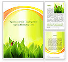 Nature & Environment: Ladybug on Grass Word Template #10670