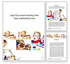 Education & Training: Child Painting Word Template #10678