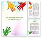 Education & Training: Painted Hands Word Template #10680