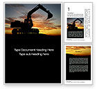 Utilities/Industrial: Excavating Contractor Word Template #10684