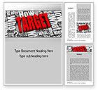 Education & Training: Target Market Word Template #10687