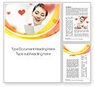 Holiday/Special Occasion: Valentine's Day Card Word Template #10691