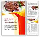 Food & Beverage: Steak Word Template #10695