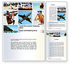Careers/Industry: Vacation Collage Word Template #10699
