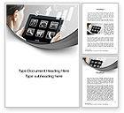 Business Concepts: Tablet Word Vorlage #10700