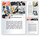 People: Fitness Collage Word Template #10704