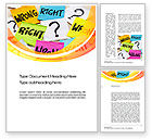 Education & Training: Right or Wrong Word Template #10712