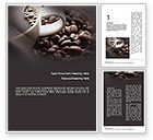 Food & Beverage: Coffee Beans Word Template #10715