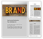 Careers/Industry: Company Brand Word Template #10721