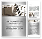 Careers/Industry: Corporate Ladder Word Template #10727