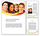 People: High School Students Word Template #10728