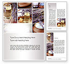 Careers/Industry: Lavender Spa Word Template #10732