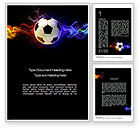 Sports: Fire Football Word Template #10735