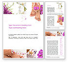 Careers/Industry: Nail Spa Word Template #10744