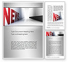Careers/Industry: News Corridor Word Template #10745