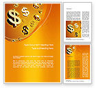 Financial/Accounting: Falling Money Word Template #10748