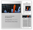 Business Concepts: Chart Trends Word Template #10753