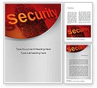 Technology, Science & Computers: 指紋セキュリティ - Wordテンプレート #10772
