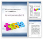 Education & Training: Team Puzzle Word Template #10773