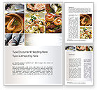 Food & Beverage: Sea Food Recipes Word Template #10779