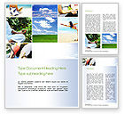 Sports: Yoga Collage Word Template #10790