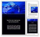 Global: Digital Globe Word Template #10793