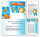 Food & Beverage: Lemon and Oranges Collage Word Template #10806