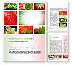 Agriculture and Animals: Strawberries Collage Word Template #10812