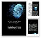 Technology, Science & Computers: デジタル画面上の指紋 - Wordテンプレート #10814