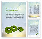 Nature & Environment: CO2 Word Template #10827