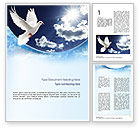 Religious/Spiritual: White Dove Word Template #10832