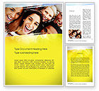 People: Group of Happy People Word Template #10833