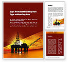 Utilities/Industrial: Oil Rig Word Template #10846