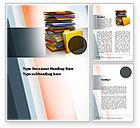 Careers/Industry: Stack of Folders Word Template #10851