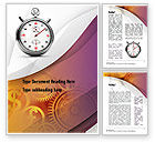 Financial/Accounting: Time and Money Word Template #10857
